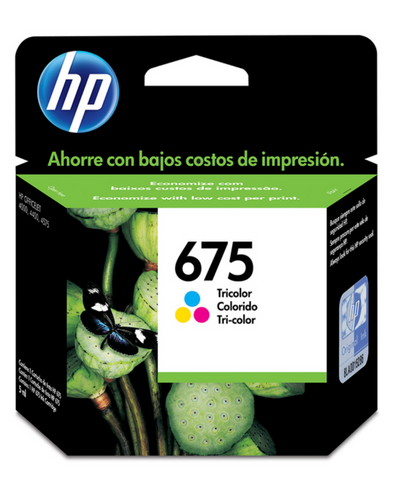 HP 675 cartucho de tinta tricolor - HP ZK