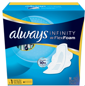 Always Infinity Flex Foam, toallas femeninas 50P - KOZ