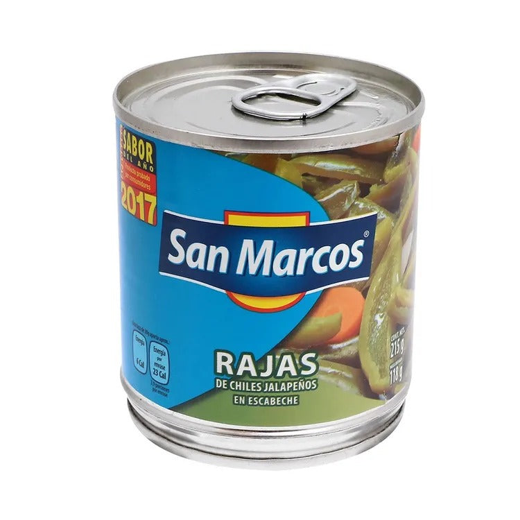 Media Caja Chiles Rajas 215G/12P