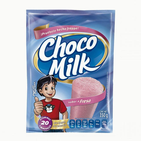 Caja Chocomilk Bolsa Fresa de 350 grs con 24 piezas - Mead Johnson-Chocolates-Mead Johnson-MayoreoTotal