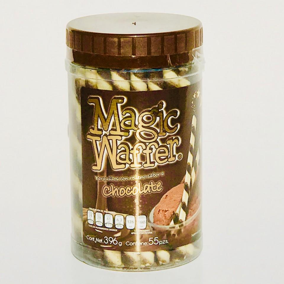 Caja Magic Waffer Chocolate con 12 paquetes de 55 piezas-Galleta-Valle-MayoreoTotal