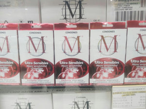 Condones M-Force Ultra Sensibles con 3 piezas-Condones-M-Force-MayoreoTotal