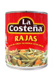 Media Caja Chile Rajas de 800 grs con 6 latas - La Costeña-Chiles Enlatados-La Costeña-MayoreoTotal