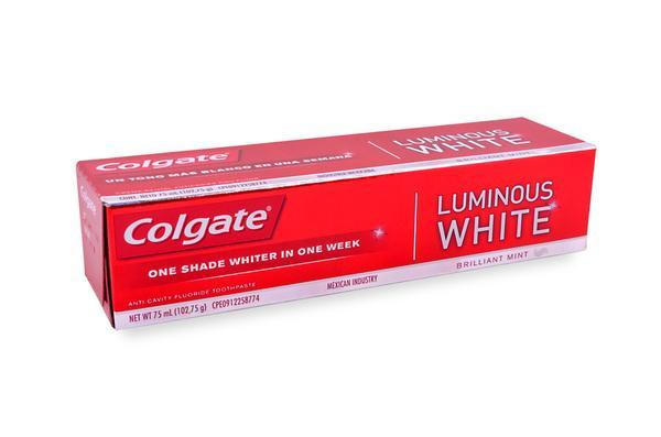 Media Caja Pasta Dental Colgate Luminous White de 75 ml con 24 piezas - Colgate Palmolive-Pasta Dental-Colgate Palmolive-MayoreoTotal