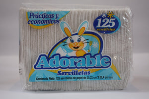 Media Caja Servilletas Adorable de 125 servilletas con 12 paquetes - Fabrica de Papel San Francisco-Servilletas-Fabrica de Papel San Francisco-7501050420532-MayoreoTotal