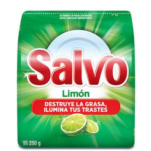 Media Caja Lavatrastes Salvo Limon 250G/24P