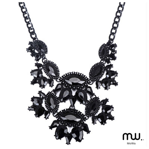 Collar statement negro boho