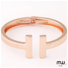Pulsera resorte doble T