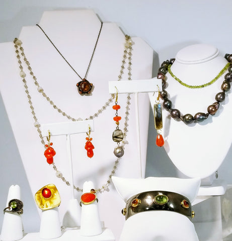 Oranges & Eggplants Jewelry Vignette