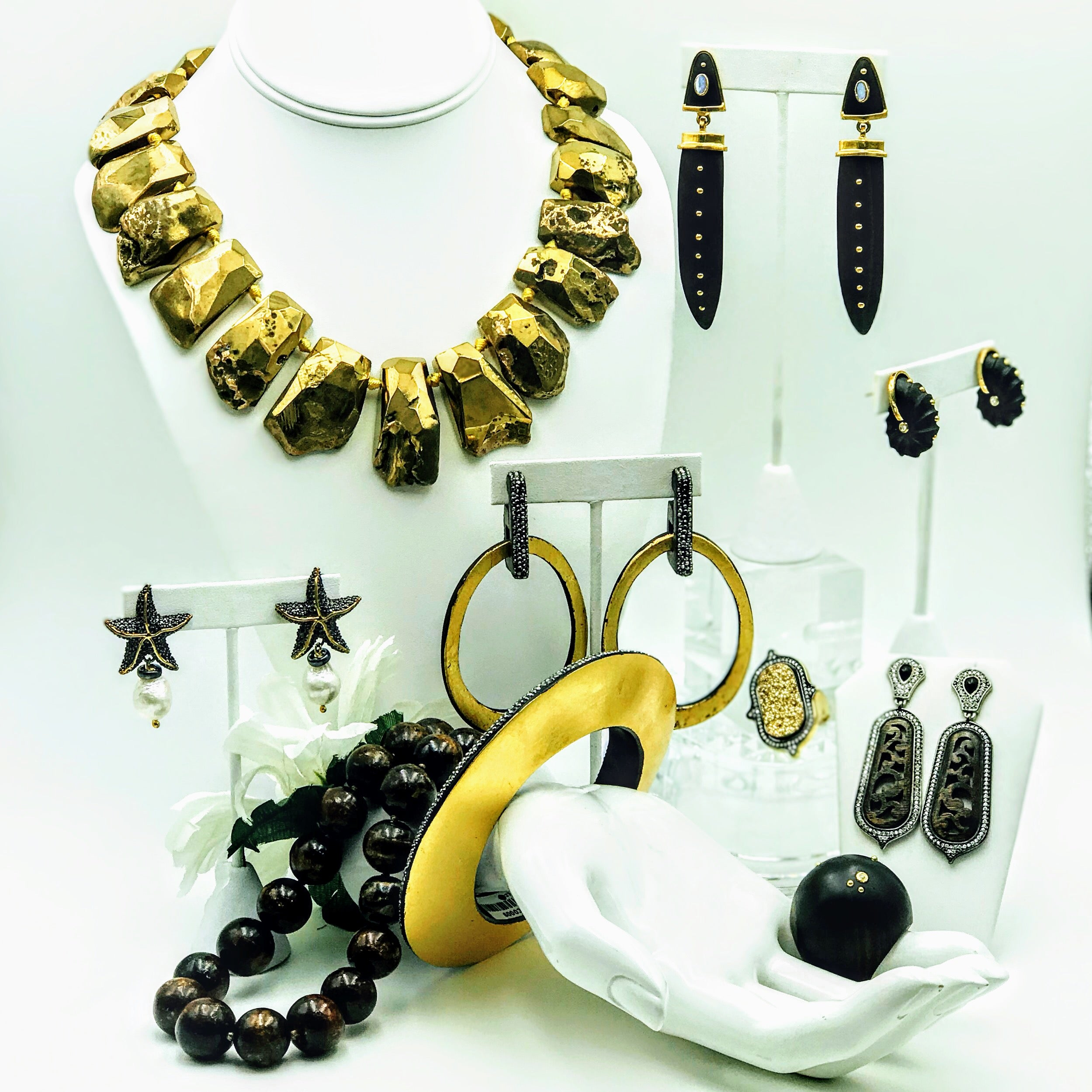 Beautiful Display at Key West Local Luxe Jewelry Store