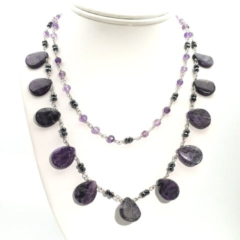 """Earth Angel"" - Amethyst Sterling Necklace - 20 inch"
