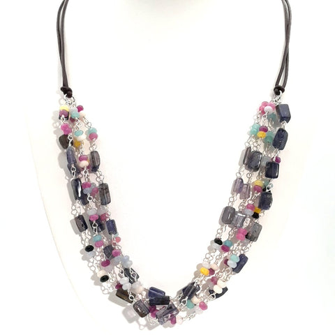 """Confetti Cake!"" - Iolite Sterling Necklace - 22 inch"