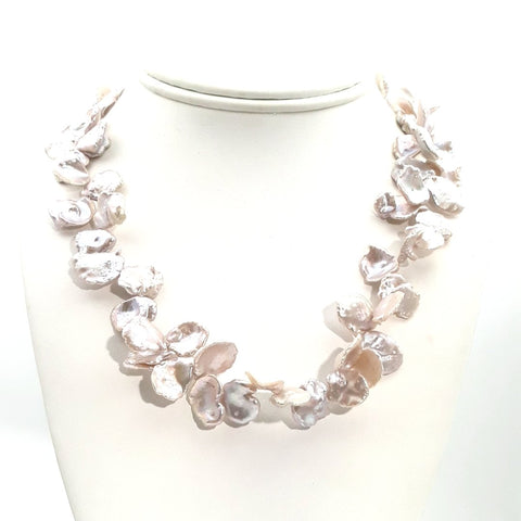 Pearl Sterling Individually Knotted, Strand Necklace  - 18 inch