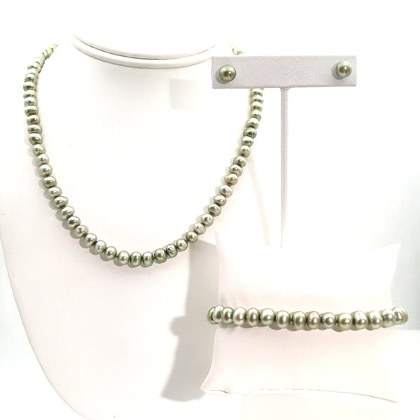 3 Piece Set Sterling  Jewelry Set  - 16 inch