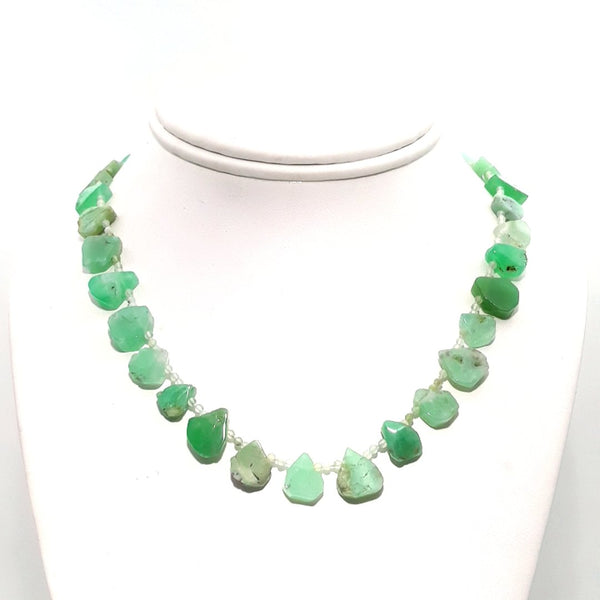 Chrysoprase Sterling  Necklace  - 16 inch