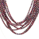 Pearl Sterling Multi Strand Necklace  - 18-20 inch