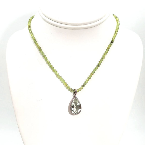 """Lettuce Find Peace"" -  Sterling Necklace - 16 inch"