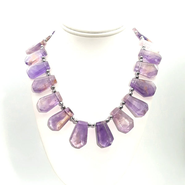 """Lilacs In Spring"" - Amethyst Sterling Necklace - 18 inch"