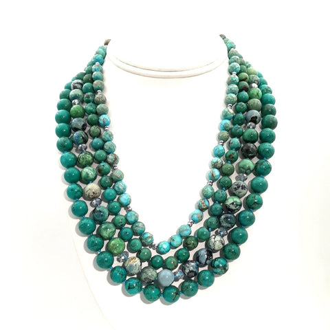 """Sundance Winner!"" - Turquoise Sterling Necklace - 16-20 inch"