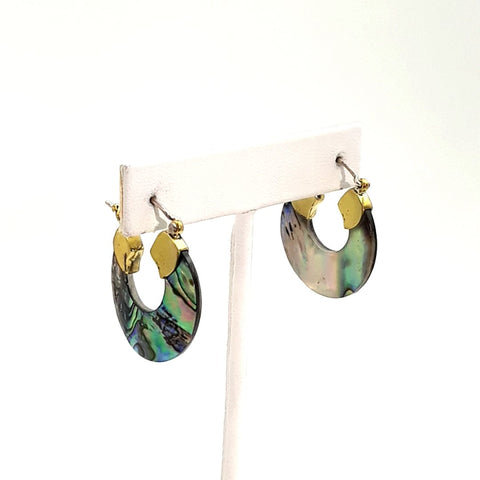 Shell   Pinch Post Earrings  - 1 1/4 inch