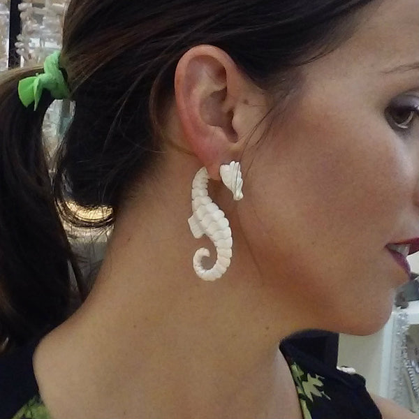Key West Jewelry Collection: Seahorse Earrings