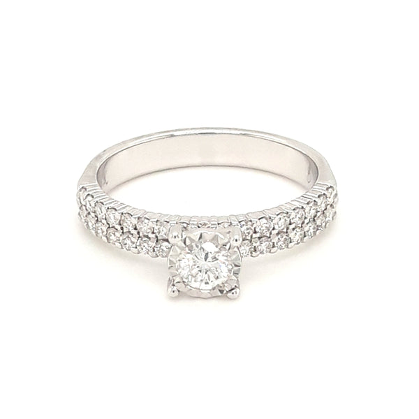 """For My Beautiful Princess"" - .75 CT TW Diamond 14K White Gold Ring - Size 7"