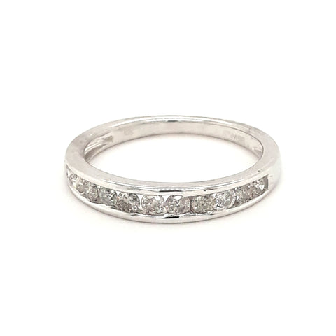 """Icing On The Cake"" - .50 CT TW Diamond White Gold Band - Size 7"
