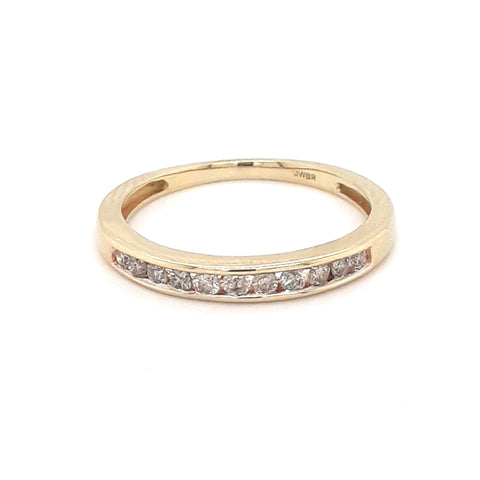 """Perfect For Me"" - .50 CT TW Diamond Gold Band - Size 6.5"