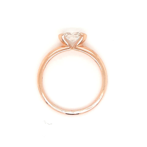 """Champagne & Moonbeams"" - .50ct Diamond Oval Cut 14kt Rose Gold Alternative Engagement Ring - Size 7"