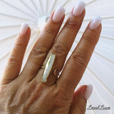 Stick Pearl Adjustable Ring