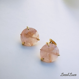 Pink Chalcedony Statement Stud earrings
