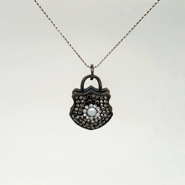 Locket Sterling Pendant with Chain Pendant  - 16 inch