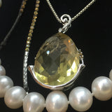 """Lovely, Lovely, Lemon Drop"" - Lemon Topaz & Citrine Pendant"