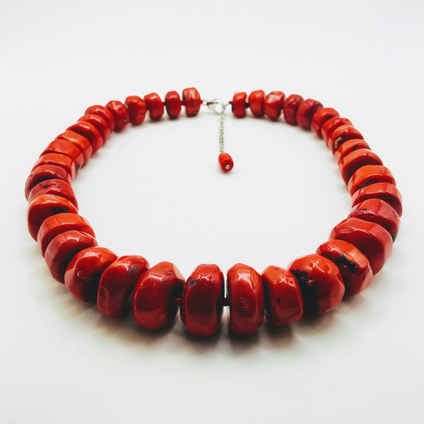 Ethical Red Coral Necklace - 20 inch