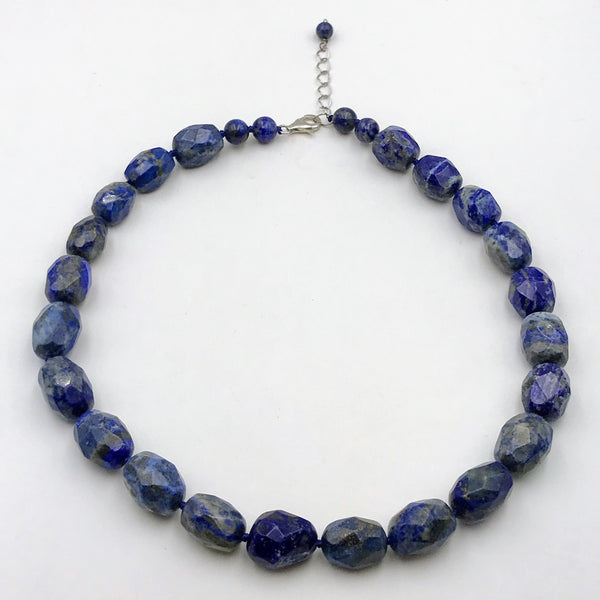 Lapis Sterling Silver Necklace - 18 inch