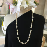 Long White Seed Pearls Necklace