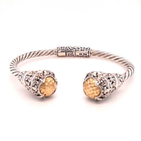 Sterling Hinged Cuff Bracelet