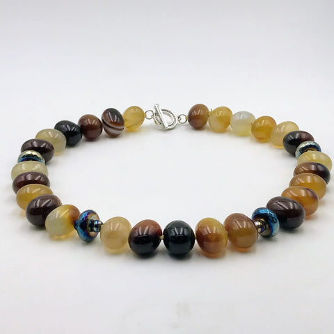 Honey Agate Necklace - 18 inch