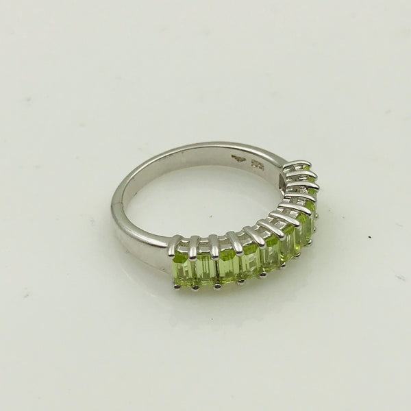 Peridot Sterling Silver Ring - Size 6.5