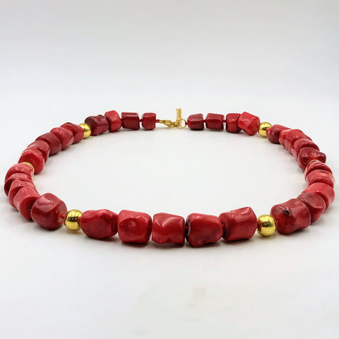 Ethical Red Coral Necklace- 23 inch