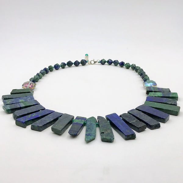 Malachite Azurite Necklace - 19 inch