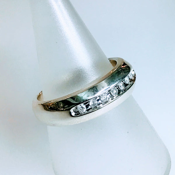Diamond Sterling Silver 925 Band Ring - Size 10