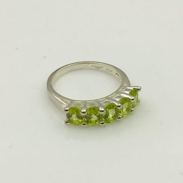 Peridot Sterling Silver Ring -Size 6.5
