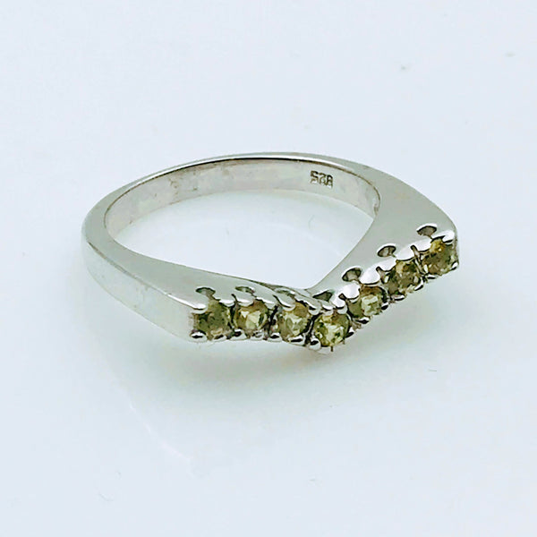 Peridot Sterling Silver Ring - Size 8.5