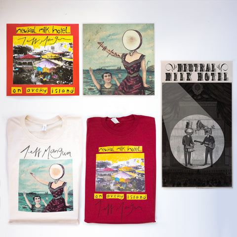 signed aeroplane and avery LPs, 2 signed shirts, signed poster…to support friends, family, and various projects