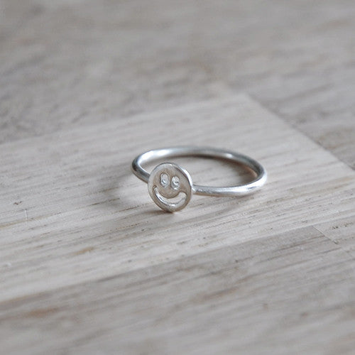 Ring Smiley - Ringen - Zilver & Zoet
