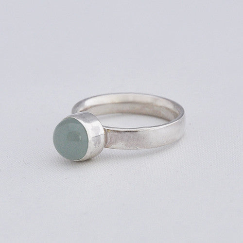 Ring Aquamarijn Basic - Ringen - Zilver & Zoet