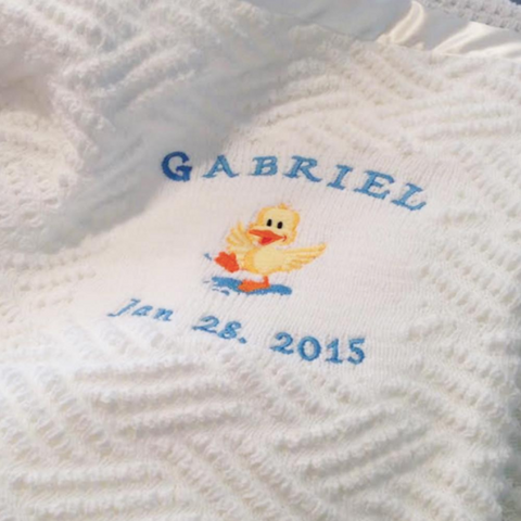 Personalized Handmade Baby Blanket