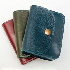 button purse. leather. Irish design. colourful leather