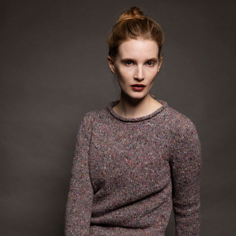 Roll Neck Ladies Irish Knit Wool Sweater